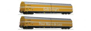 Roco 76087 H0 Gauge SBB Post Habbiillnss Sliding Wall Wagon Set (2)